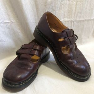 Dr Martens AirWair Oxblood Mary Janes  8
